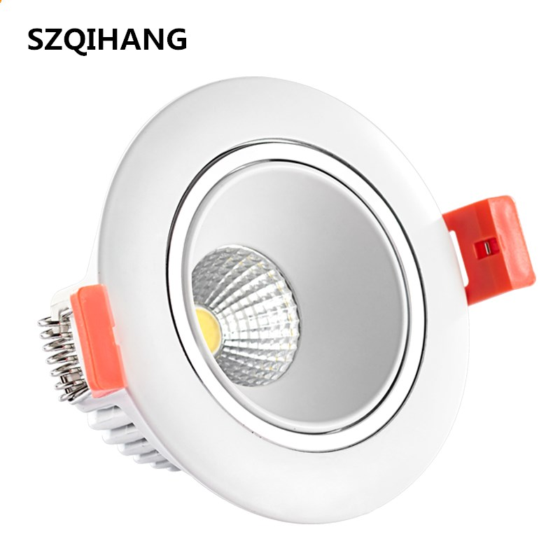 10 W Dimbare Led Cob Downlights 80mm Cut Gat Ronde Vierkante 10 W Spotlight Plafond Verzonken Armaturen Lamp