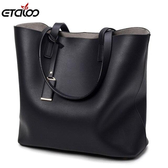 2fa4d563a005f Torba kobieca duża torba czarne wiadro torby moda na co dzień panie torby  na ramię
