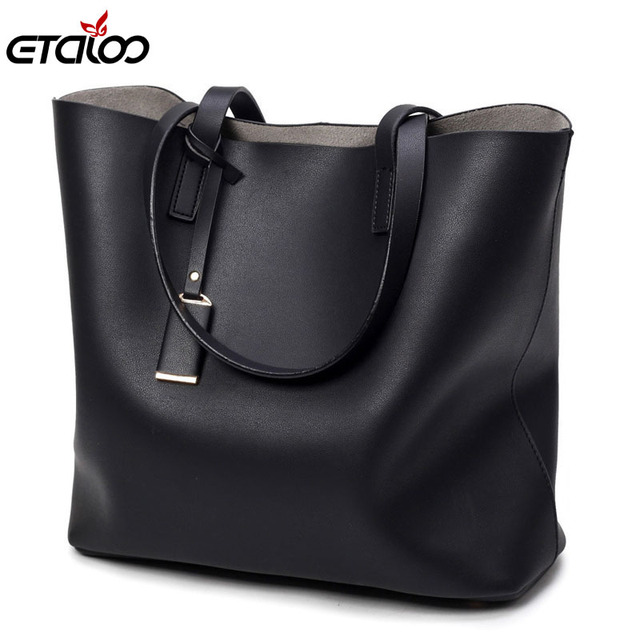 e925cc2b5a7 Women bag large bag black bucket bag casual fashion ladies shoulder bag