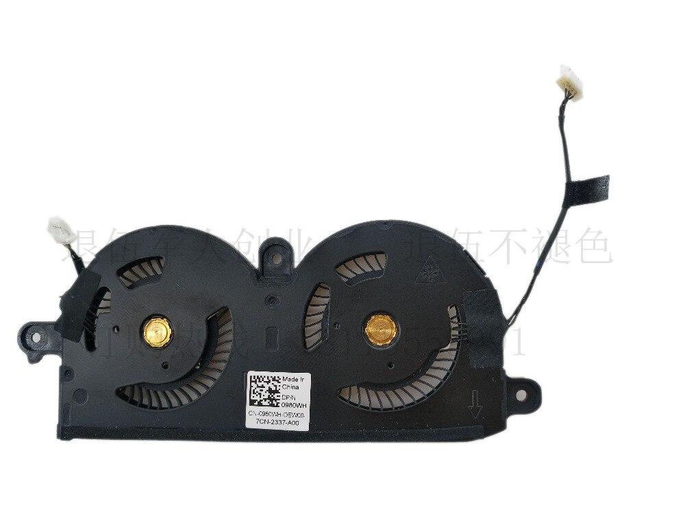 Оригинальный вентилятор для процессора ноутбука/вентилятор для охлаждения графики в сборе для Dell XPS13 XPS 13 9370, вентилятор для радиатора 0980WH ...