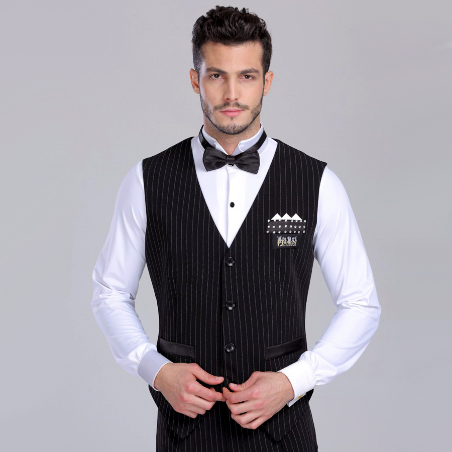 2017 New Arrival Men Ballroom Dance Wear Waistcoats Waltz/Tango/Ballroom Dance Tops Competition Tops DQ7005