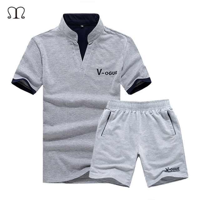 0bf751500478 2018 Brand Casual Suit Men Summer Sets Active Tracksuits for Mens Stand  Collar s Vetement Homme Streetwar Tops Tees   Shorts Set
