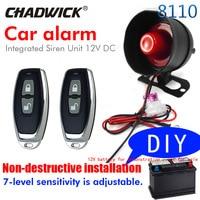 12V Car accessories Non destructive installation Burglar Alarm System CHADWICK 8110 Easy to install for car Anti theft device