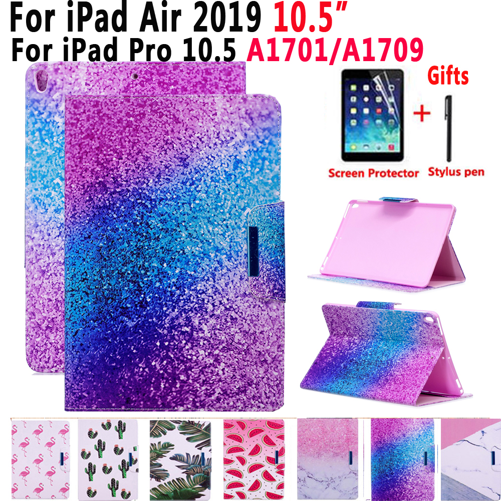 Case for Apple iPad Air 2019 10.5 3 3rd Generation Pro 10.5 2017 A1701 A1709 Cover Funda Painted Shockproof Smart Skin+Film+SkinCase for Apple iPad Air 2019 10.5 3 3rd Generation Pro 10.5 2017 A1701 A1709 Cover Funda Painted Shockproof Smart Skin+Film+Skin