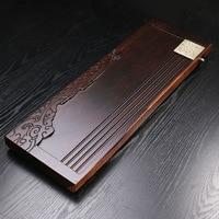 Factory Wholesale 72*25*4cm Natural Ebony Wood Carving Chinese Solid Tea Tray Household Tea Board Tea set Kungfu Teasets