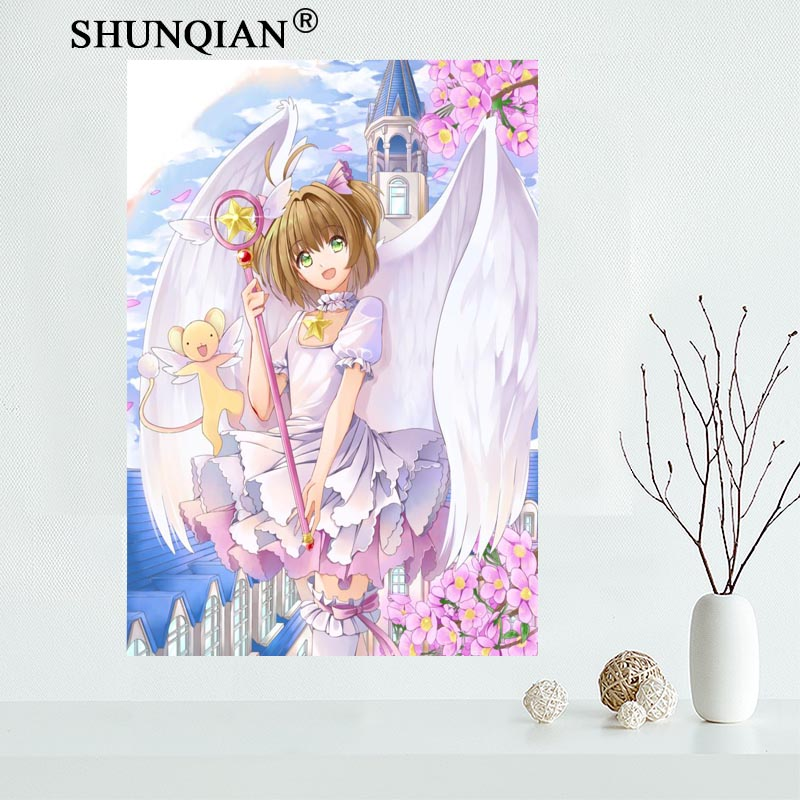 US $5 75 28% OFF|Card Captor Sakura transparent card Canvas Painting Poster  Cloth Fabric Wall Art Poster No Frame Home Decoration pictures gifts-in