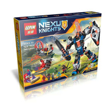 LEPIN 14023 578Pcs Nexoe Knights The Black King's Mech Model Building Kits Minifigure Blocks Brick DIY Gift Toy
