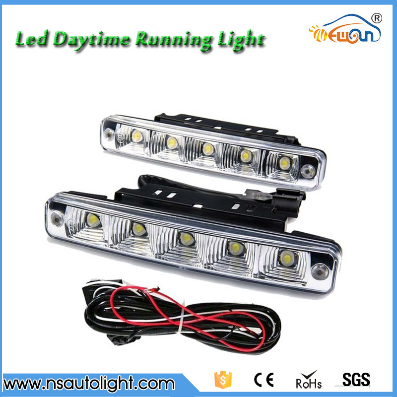 Super price 5 LED Super Bright White 19cm led DRL Car Daytime Running Light Head Lamp Universal Waterproof Day Lights 10W 12V
