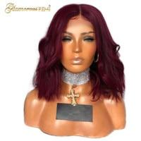 Перуанский Синтетические волосы на кружеве натуральные волосы боб парики ошибка для Для женщин 100% Волосы remy отбеленные узлы объемная волна