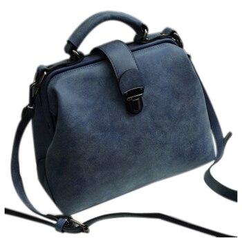 Women PU Leather Vintage Crossbody Handbags 1