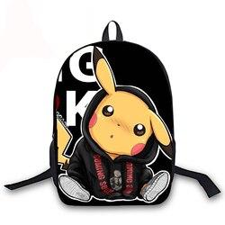 PIKACHU 16 Cal torby szkolne Plecak Szkolny nastolatek Plecak dziewczyny chłopcy Plecak plecaki studenckie Mochilas Escolares Sac Dos 3