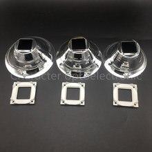 10pcs 89MM 98MM 100MM Diameter Aluminum Led Lamp Reflector Cup Bowl Case For 20W - 100W 25X25MM High Power Emitter Spotlight
