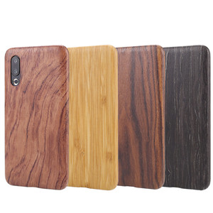Image 2 - For Meizu 16s /16XS walnut Enony Wood Rosewood MAHOGANY Wooden Slim Back Case Cover