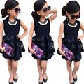 5 Size girl party dress Solid Baby Girls Princess Party Pageant Wedding Tulle Tutu Flower Dresses toddler girl clothing good