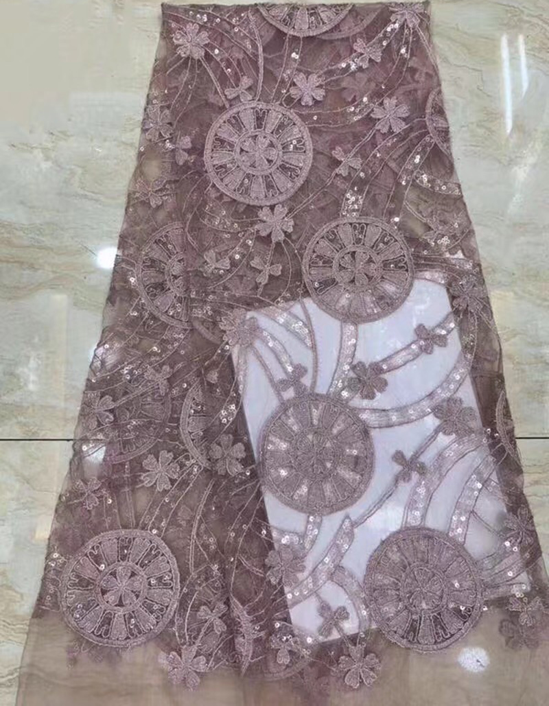 (5yards/pc) high quality embroidered French net lace fashion African tulle lace fabric with transparent sequins for dress FZZ123(5yards/pc) high quality embroidered French net lace fashion African tulle lace fabric with transparent sequins for dress FZZ123