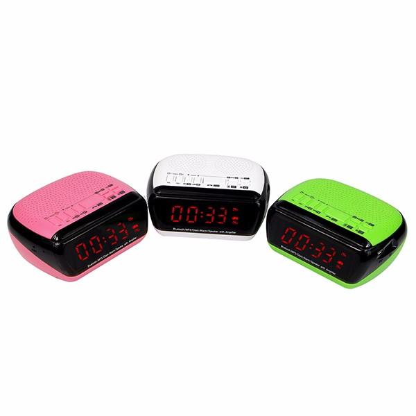 Hot Digital FM Radio Bluetooth Speaker Dual Alarm  (1)