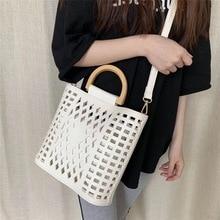 Litthing Women Bags Handbags Bolsa Feminina Wood handle tote bags PU leather shoulder bag Purses Dropshipping Women shoulder Bag цена