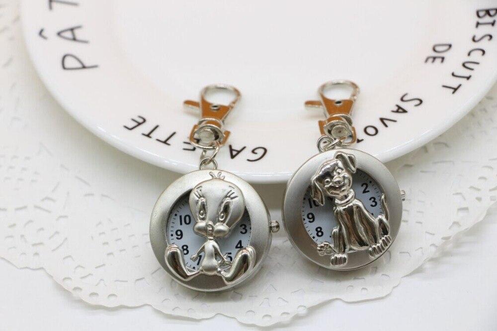 Ufficio Retro Wanita : Carino argento vintage notte lanatra il cane collana del pendente