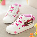 2016 Girls Canvas Walkers Shoes Toddlers Children Cartoon Bow Breathable Fashion Casual Sneakers Little Kids Comfortable Shoes