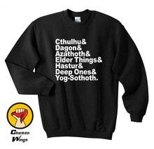 Hp Lovecraft Cthulhu mythos Top Crewneck Sweatshirt Unisex More Colors XS - 2XL