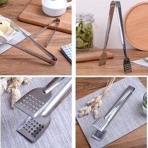 Image 5 - Stainless Steel Food Tongs Kitchen Utensils Buffet Cooking Tool Anti Heat Bread Clip Pastry Clamp Barbecue Kitchen Tongs Steel