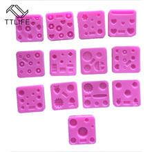 TTLIFE 13 Styles Silicone Chocolate Mold Fondant Cake baking Tools Non-stick cake mold Jelly and Candy 3D DIY