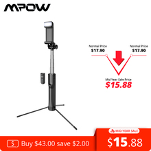 Mpow 2 in 1 Bluetooth Selfie Stick Tripod With Fill Light Wireless Remo