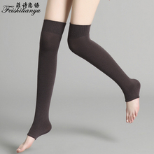 d950b8e62 Feishilianyu Fashion Women Knitting Warm Long Stocking Cotton Thigh For  Ladies Vintage High Over The Knee