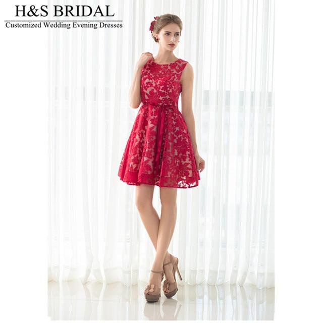 3e68d2c6c4a H   S свадебные o Средства ухода за кожей Шеи красные короткие Выпускные  платья мини длиной