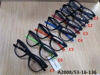 A2008Menモデルスポーツeyewear7色フルリムでケースサイズ53 16 136