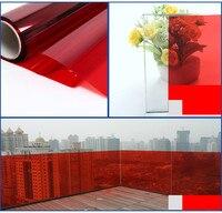 50cm wide Red glass PET film window film Glued glass architectural decorative film Party Hotel Restaurant Decor