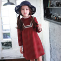 2016 spring dress girl dresses,Cute Dot full sleeve fancy dress girl clothes children's boutique clothing
