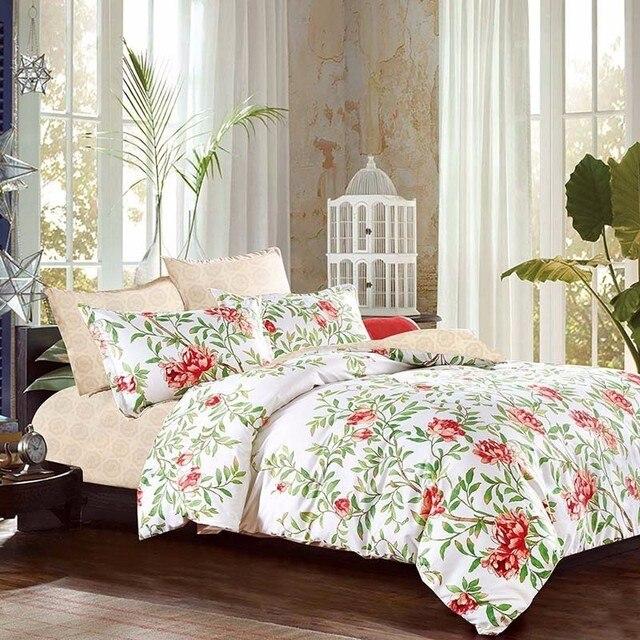 Лилия 4/6 штук полиэстер Постельное белье Уютный наволочка высокое качество Набор пододеяльников для пуховых одеял X-