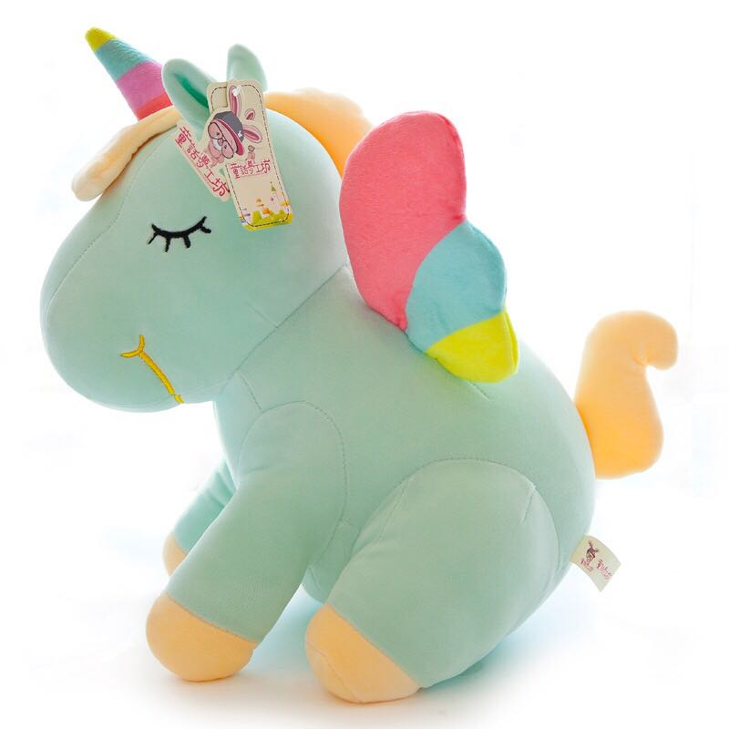 30cm Cute Rainbow Unicorn Plush Toys Lovely Unicorn Stuffed Animal Horse Toy Doll Children Toys Baby Cuddle Toys Birthday Gifts image