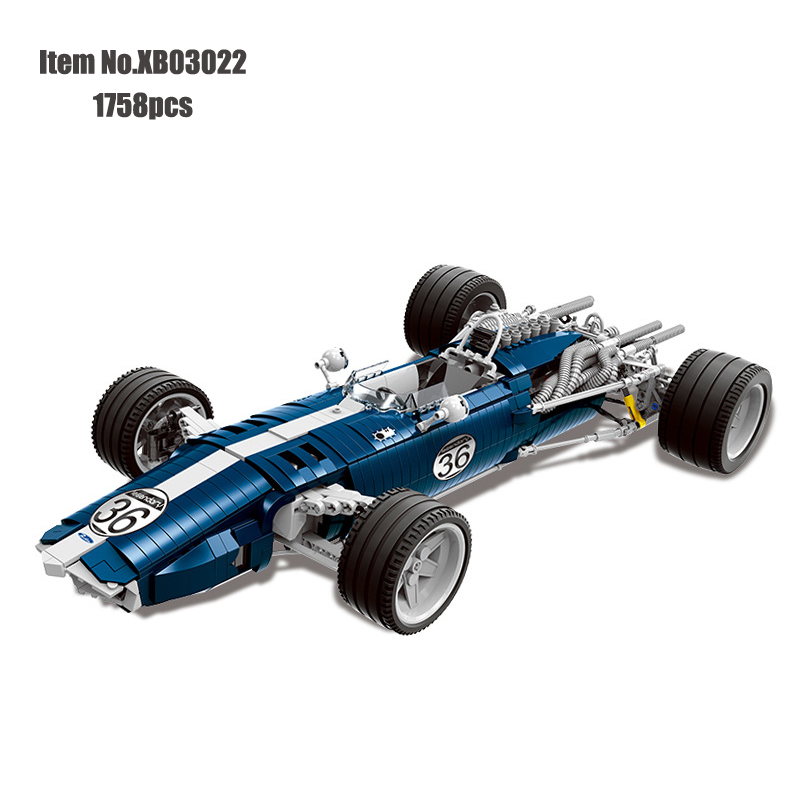 XINGBAO Bricks technic Genuine The Blue Racing Car Set Building Blocks Compatible Weapons Toys For Children|Blocks| |  - title=