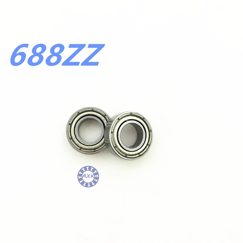 free  shipping  50 pcs/lot 8x16x5mm Metal Shielded Deep Groove Ball Bearing 688ZZ 688 bearing 10pcs 5x10x4mm metal sealed shielded deep groove ball bearing mr105zz