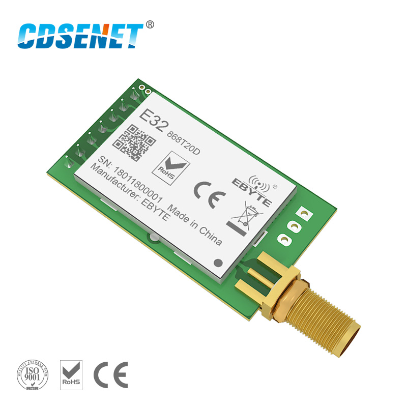 1 pc 868 MHz LoRa SX1276 rf transmisor receptor inalámbrico módulo rf CDSENET E32-868T20D UART largo rango de rf de 868 mhz transceptor