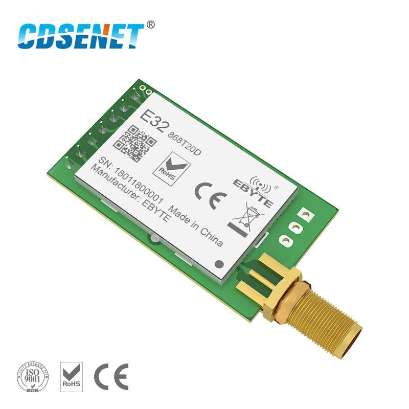 1 unid 868 MHz LoRa SX1276 rf transmisor receptor inalámbrico módulo rf CDSENET E32-868T20D UART de largo alcance, 868 MHz transceptor de rf