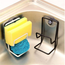 Kitchen Sink Sponges Holder with Suction Cups for Dish Scrubbers Soap Double Layers Storage Rack Sponge Drying