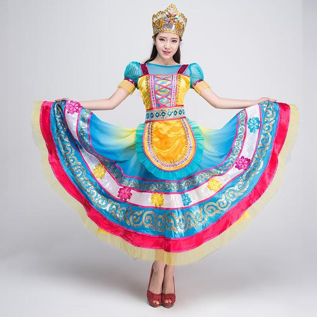 b13fdf5c6763 Women ladies traditional Russian national costume Russia clothing Princess dance  dresses costumes stage performance clothes