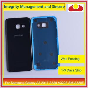 Image 4 - 50Pcs/lot For Samsung Galaxy A3 2017 A320 A320F SM A320F Housing Battery Door Rear Back Cover Case Chassis Shell