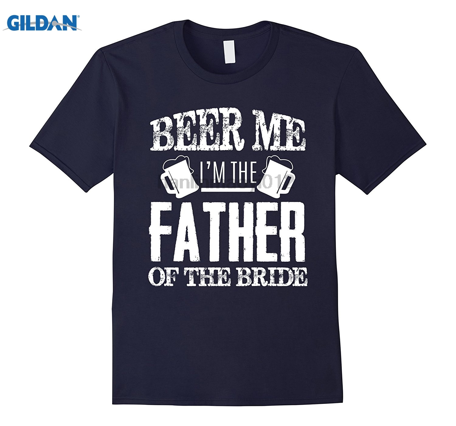 GILDAN Mens Beer Me Im The Father Of The Bride Fathers Day Gift glasses Womens T-shirt