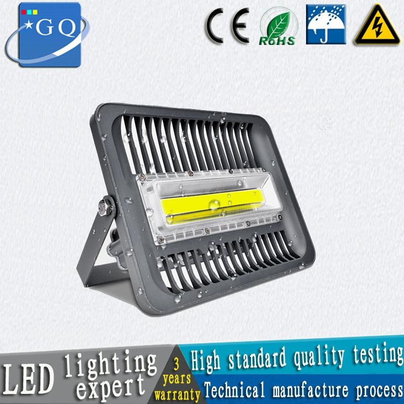 hengtiao 30W 50W 70W 100W LED Projector light IP65 rainproof 110v 220v 240v 120vLED FloodLight Outdoor food lamp research light aluminum front