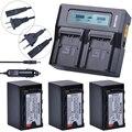 3 шт. 5200 мАч VW-VBD58 VBD29 VBD58 VBD78 батареи + Быстрый ЖК двойной зарядное устройство наборы для Panasonic AJ-HPX260MC  HPX265MC  PX270  PX280MC