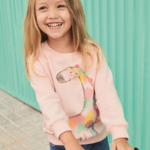 Little maven 2019 autumn new baby girls brand clothes giraffe print toddler pink thin sweatshirts little girl outfit C0168