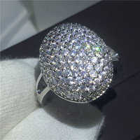 Bella Ring Pave Setting AAAAA Zircon Stone Cz Engagement Wedding Band Rings For Women Men 925