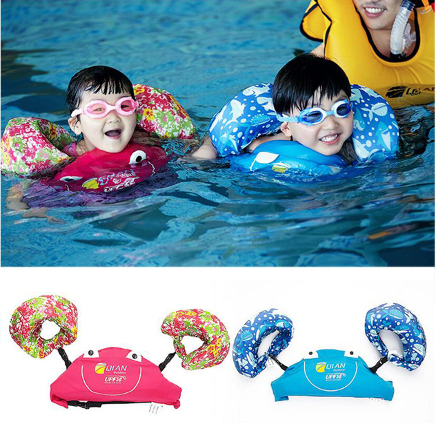 Professional Child Swim Vest Arm Float Swimming Circle Baby Swim Trainer Fishing Life Vest Water Sports Kid Swimming Accessories