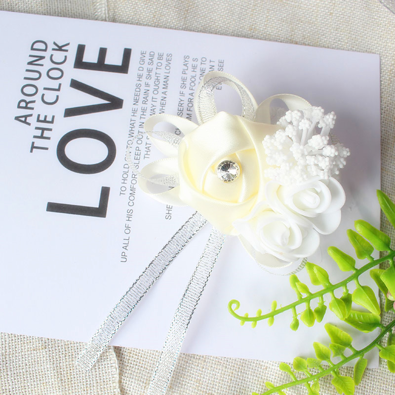 wrist corsage bracelet bridal wedding flowers Bridesmaid  (114)