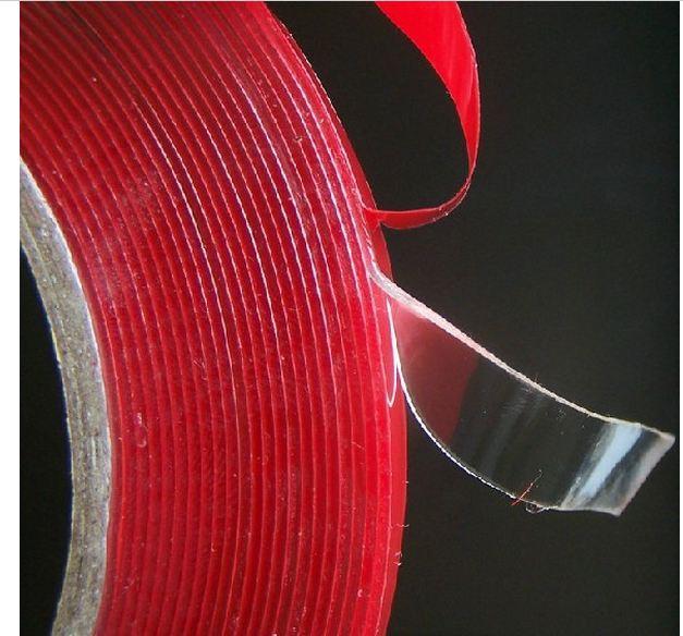 5vnt. / Partija 6mm x 3metrų silikono raudonos spalvos dvipusis - Automobilių išoriniai aksesuarai - Nuotrauka 2