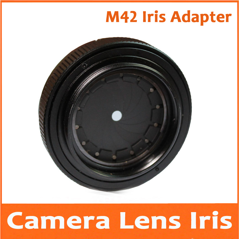 цена 1.5-26mm 25mm Amplifying Adjustable Metal Iris Diaphragm Aperture Condenser Camera lens Adapter with M42 x1mm Thread Casing